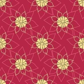 Lotus flower outline doodles
