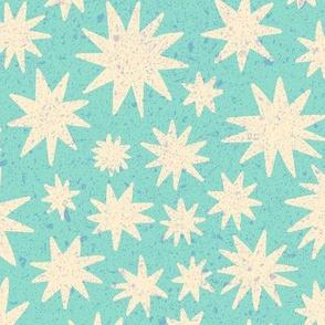 textured stars - turquoise