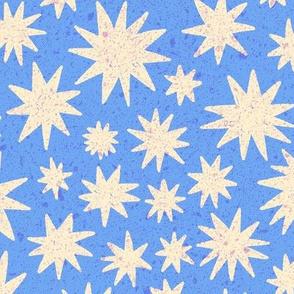 textured stars - periwinkle