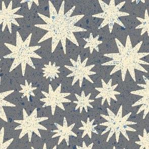 textured stars - grey