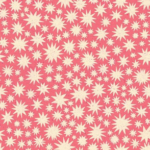 textured stars - small scale - coral