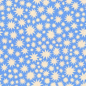 textured stars - small scale - periwinkle