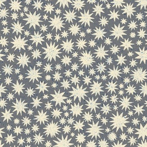 textured stars - small scale - grey