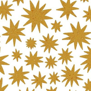 textured stars - burnt orange + white