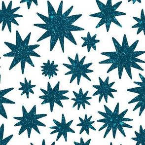 textured stars - ocean + white