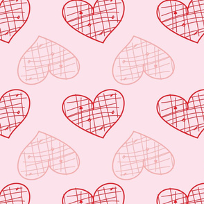 Hearts filled with grids