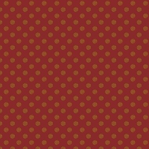 Porch Perfect Dots maroon and beige 2027-17
