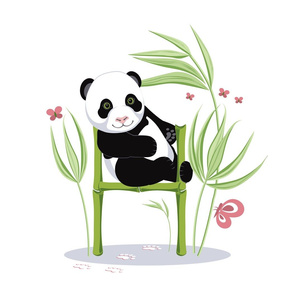 Alphabet and Panda. The letter H