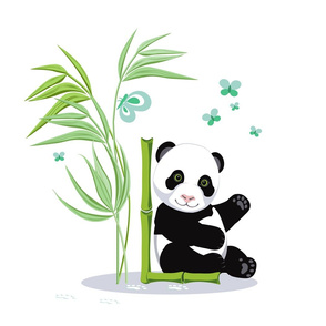 Alphabet and Panda. The letter L