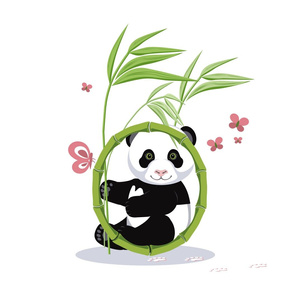 Alphabet and Panda. The letter O