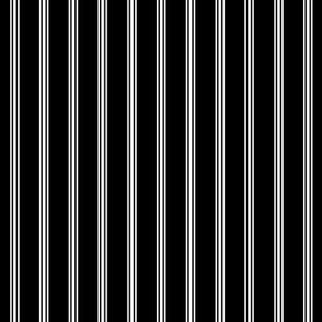 custom ticking stripe half inch black and white