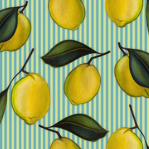 Lemonpattern Stripes Blue Large