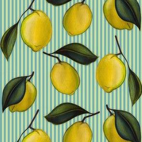 Lemonpattern Stripes Blue Small
