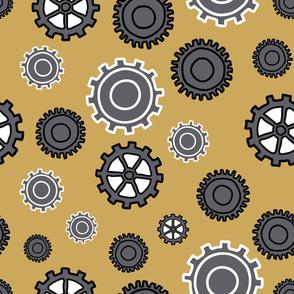 modern gears yellow