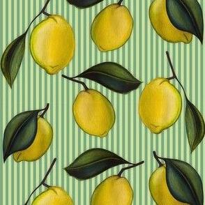 Lemonpattern Stripes Green Small
