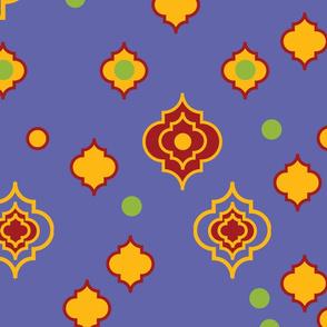 Morocco Bright Colorful Trefoil design