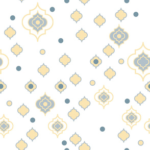 Moroccan trefoil muted
