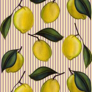 Lemonpattern Stripes Purple Small