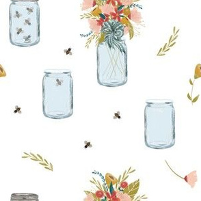Country Bouquets|Flowers in Jars|Country Girl|Renee Davis