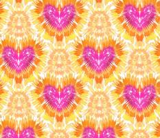 Pink Heart Tie Dye