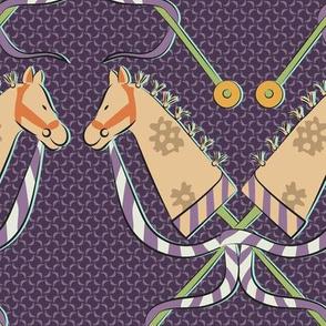 stick horse violet