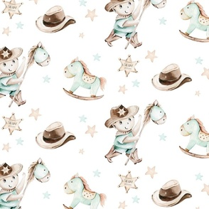 Wild West Watercolor Nursery boys design