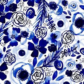 Bohemian Boquet (Classic Blue)