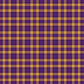 Plaid Small Scale Purple Gold
