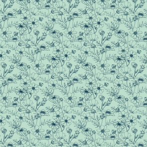 Dainty Mint Floral