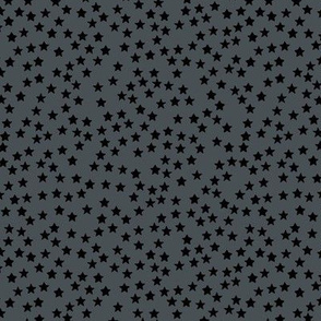 Little sparkly stars romantic boho night basic sky design nursery neutral charcoal gray black