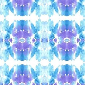 """Watercolor background """"tie-dye""""  Blue sky"""