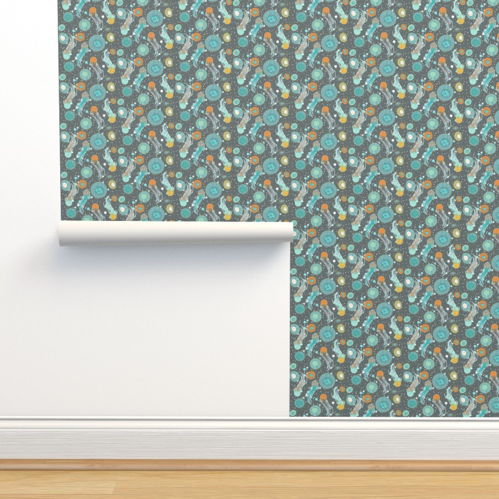 Isobar Durable Wallpaper featuring jellyfishes by katarina