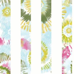 Large Spring Tie-Dye Stripe
