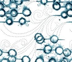 tie dye bubbles and sashiko waves