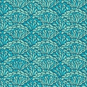 shell crochet - turquoise