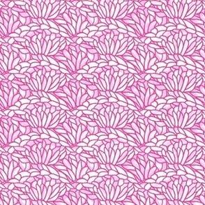 shell crochet - pink