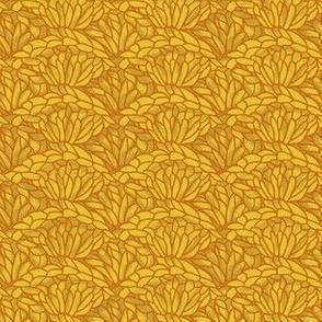 shell crochet - mustard