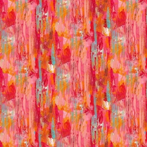abstract stripes in red, orange & pink