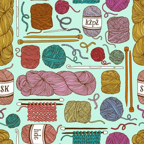 knitting - mint