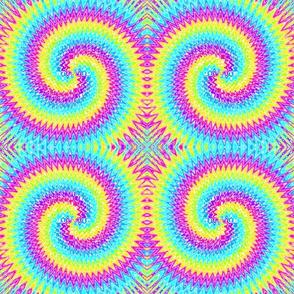 09862642 © tie-dye archimedean spiral