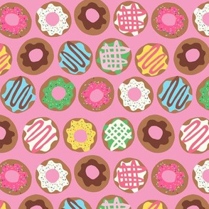 Donut Rows Pink