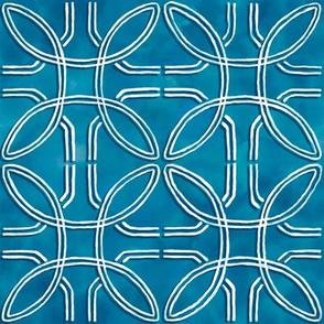 Blue Tie Dye Pattern