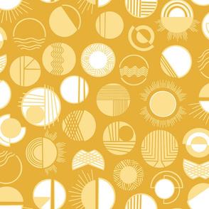 Desert Rays Mustard Gold Saffron by Angel Gerardo