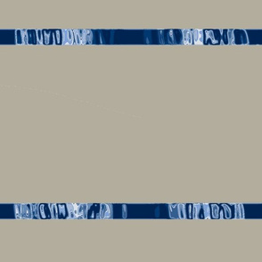 Gray Area with  Blue Chrome Ribbon Stripe