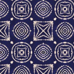 Shibori Geometric Tie Dye