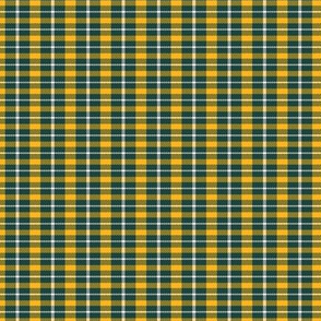 Green Yellow Gold Small Scale Plaid