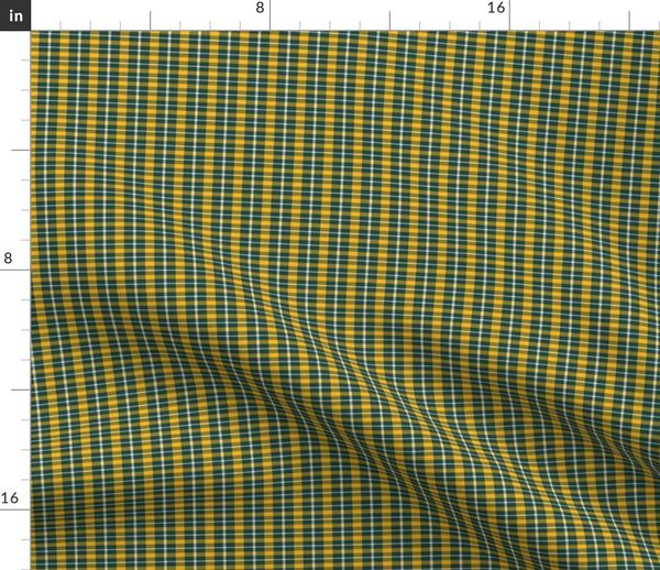 Green Bay Packers Small Scale Plaid Spoonflower