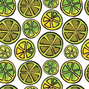 Lime Wheels (small scale) - white ground