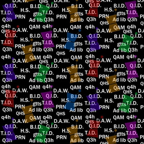 Pharmacist Abbreviations Black