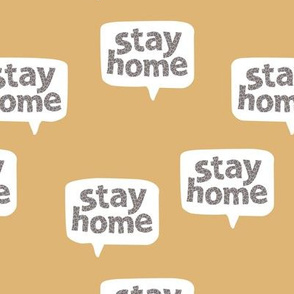 Inspirational text design stay home save lives corona virus design cool ochre yellow leopard spots